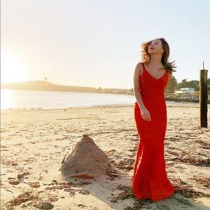Dresses & Skirts - Red Herve inspired long mermaid dress